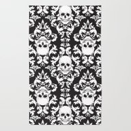 Skull Damask Rug