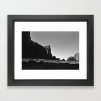 Hidden Skull in Monument Valley Framed Art Print