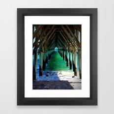 Peaceful Under the Pier Framed Art Print