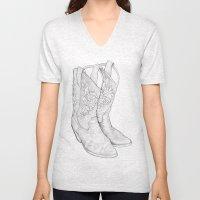 Cowboy Boots Unisex V-Neck