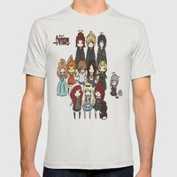 Finn the human admins Mens Fitted Tee Silver SMALL