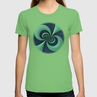 Green on Blue Womens Fitted Tee Grass SMALL