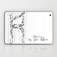 R - is for Rare - white version Laptop & iPad Skin