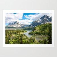Glacier Lookout Art Print