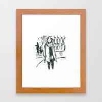 Brush Pen Fashion Illust… Framed Art Print