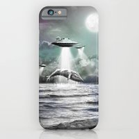 iPhone Cases featuring Whaling UFO by Bakus