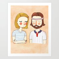 movie Art Prints featuring Secretly In Love by Nan Lawson