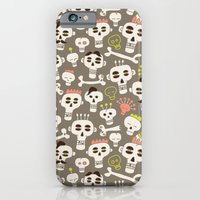 iPhone Cases featuring Skull Pattern by Olya Yang