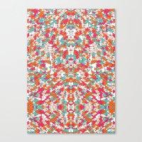 Chaotic Triangle Balance Canvas Print