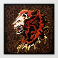 King Lion Roar  Canvas Print