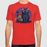 My Neighbor Luna Mens Fitted Tee Red SMALL