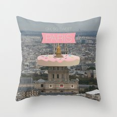 OH SO SWEET PARIS Throw Pillow