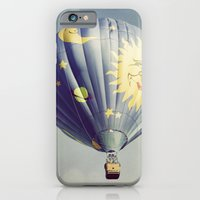 iPhone & iPod Case featuring Moon and Stars Hot Air Balloon by Tricia McKellar