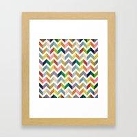Vintage Chevron - Color … Framed Art Print