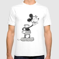 headless mouse White Mens Fitted Tee SMALL