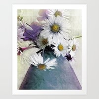 Daisies And Buttercups -… Art Print