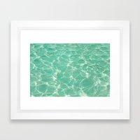 Pastel Pool. Framed Art Print