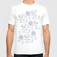 Shire Toile Mens Fitted Tee White SMALL