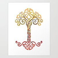 Woven Tree Of Life Art Print