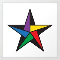 Geometric star - to wear Art Print