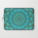 Blue Radiant Sun... Laptop Sleeve