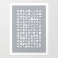 TypeFlakes B Art Print