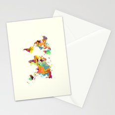 world map color art 2 Stationery Cards