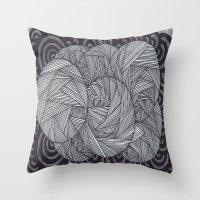Molecular 6 Throw Pillow