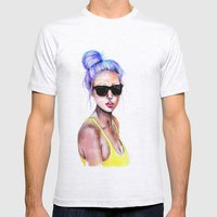 Little Blue Bun Mens Fitted Tee Ash Grey SMALL