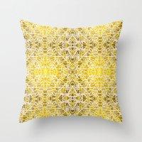 Random Rope On Gold Foil Throw Pillow