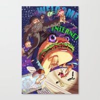 Welcome to the internet Canvas Print