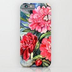 watercolor peonies Slim Case iPhone 6s