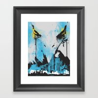 Eagle Eye Watching - Blu… Framed Art Print