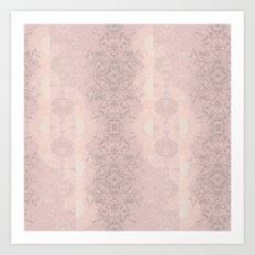 Floral Lace // Pink Semi-Circles Art Print