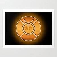 Orange Lantern Corp (Avarice) Art Print
