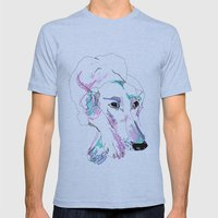 Lurcher Mens Fitted Tee Athletic Blue SMALL