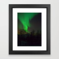 Northern Lights over Norway Framed Art Print