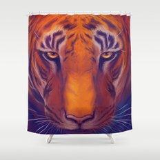 Solar Tiger Shower Curtain