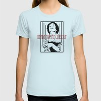 All right, Mr. Demille... Womens Fitted Tee Light Blue SMALL