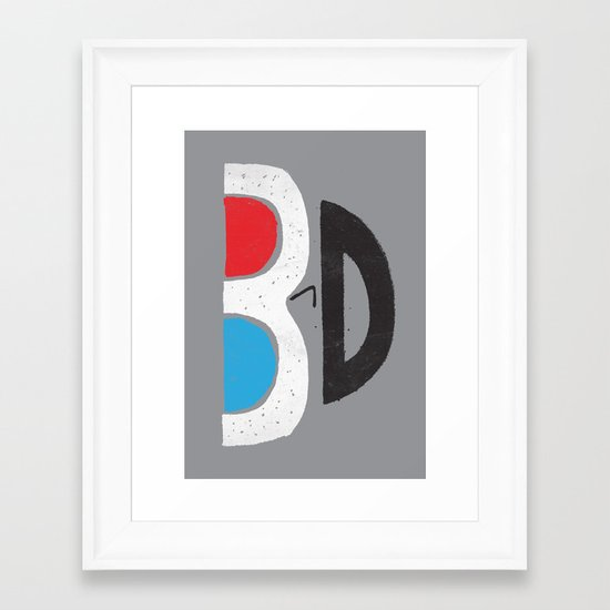 I Like It 3D Framed Art Print