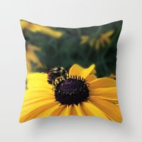 Lone Bee Throw Pillow