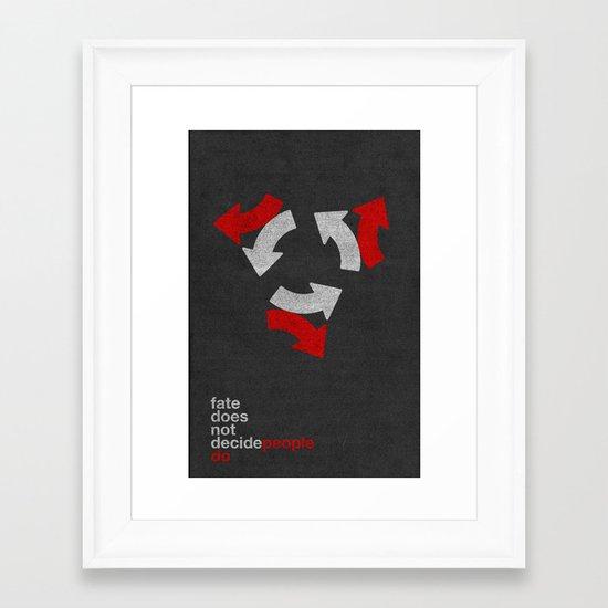 decide Framed Art Print