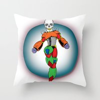 MIGHTY SKULL Throw Pillow