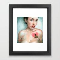 Keyhole Heart Framed Art Print