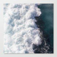 sea - midnight blue wave Canvas Print