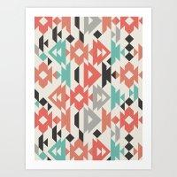 Caleido Triangle Art Print