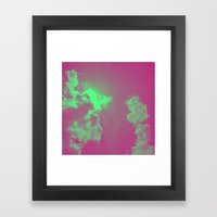 Radiant Clouds Framed Art Print