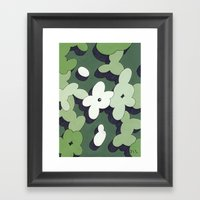 Mono Pattern | The Cactu… Framed Art Print