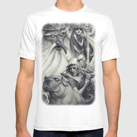 Another Castle :: Duotone Print Mens Fitted Tee White SMALL