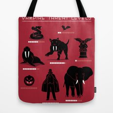 Vampire Threat Levels Tote Bag